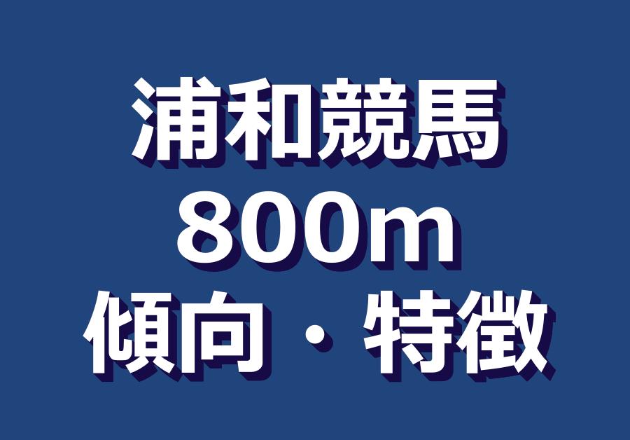 浦和800mダート傾向や特徴|逃げ3着内率90%超え!単勝6番人気以内が狙い目