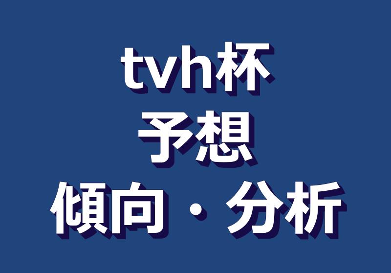 TVh杯2021予想|過去傾向分析